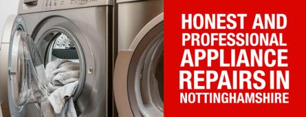 Honest, professional cooker, oven, dishwasher, washing machine, tumble dryer and fridge freezer repairs in Nottinghamshire